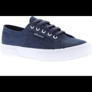 SUPERGA 7.5 8 38 Euro NEW Sneakers DENIM Blue NWT
